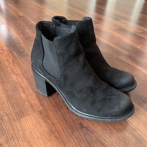 Merona Black Suede Ankle Boots
